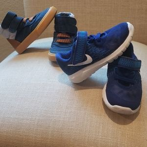 Boys 6C. Two pairs of shoes. Nike and Old Navy